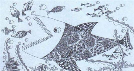 大鱼简笔画步骤