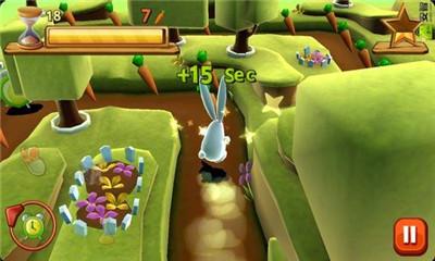 兔子吃萝卜图片
