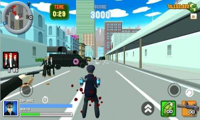 圣安地列斯愤怒的警察3D城市(双摇杆射击)Angry Cop 3d City Frenzy截图1