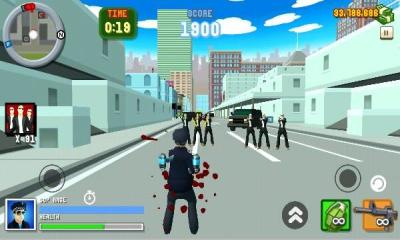 圣安地列斯愤怒的警察3D城市(双摇杆射击)Angry Cop 3d City Frenzy截图2