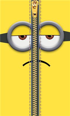 小黄人拉链锁屏截图1