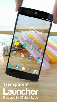 手机屏幕透明启动器下载 透明屏幕桌面