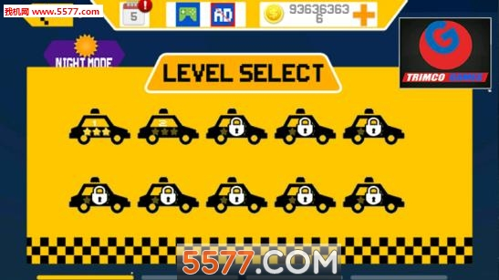 像素出租车传奇(模拟驾驶)fast city taxi race legend截图2