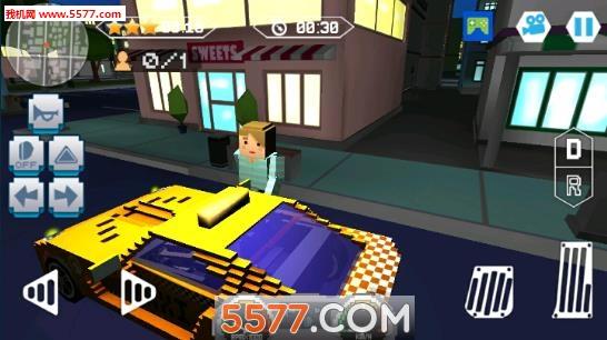像素出租车传奇(模拟驾驶)fast city taxi race legend截图3