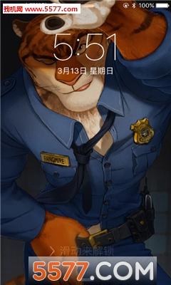 疯狂动物城豹警官手机高清壁纸下载|疯狂动物城豹