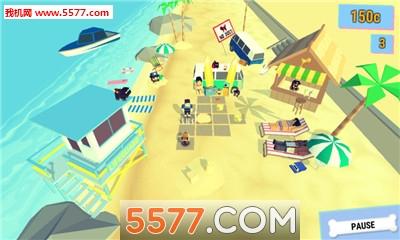 聚会哈巴狗:沙滩谜题Go安卓版Party Pugs: Beach Puzzle GO截图0