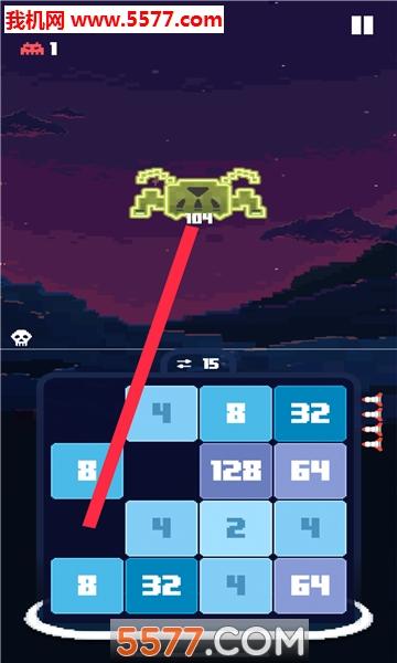 侵略者2048安卓版(invaders2048)截图0