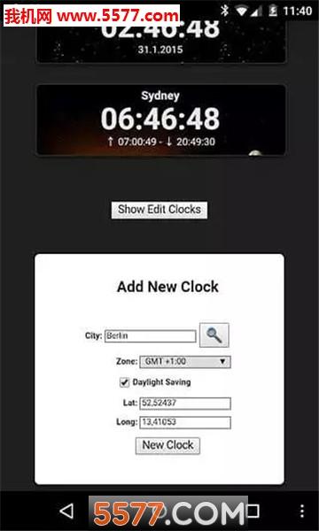 文字云时钟word clock安卓版截图0