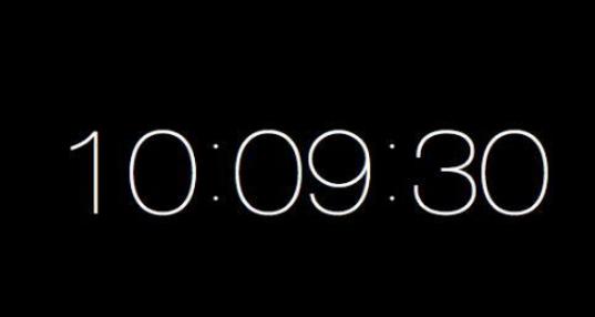 全屏数字时钟