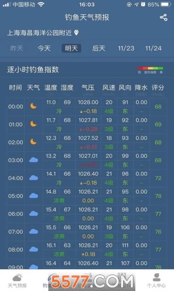 钓鱼天气预报app截图1